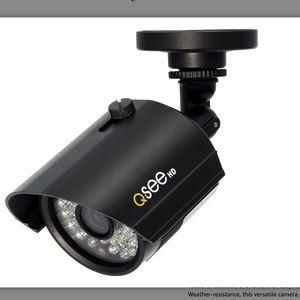 """2 QSee HD Security Cameras Add-On Indoor/Outdoor Night Vision """"2 Cameras"""""""